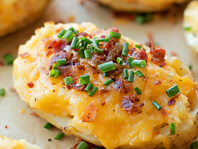 Bacon and Cheddar Stuffed Potatoes