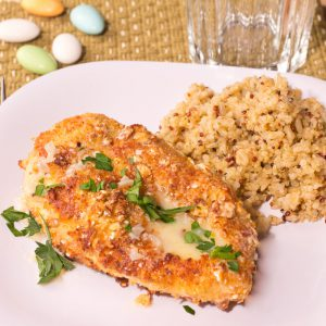 Fennel-Almond Crusted Chicken with Brown Butter