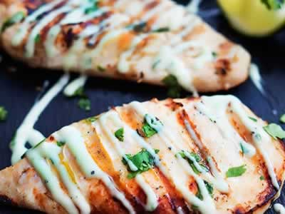 Lime Chicken With Cilantro Cream