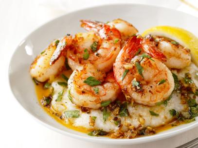 Shrimp and Grits with Bourbon Red Eye Gravy