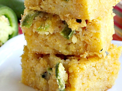 Sweet Cornbread with Green Chiles