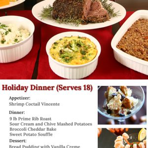 Holiday Dinner Meal Kit Dinner A'Fare