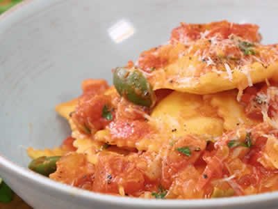 Cheese Ravioli Parma Rosa Dinner A'Fare