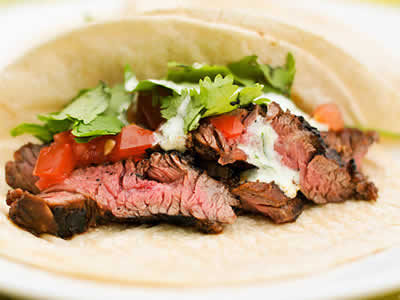 Steak Soft Tacos with Horseradish Bleu Cheese Dinner A'Fare