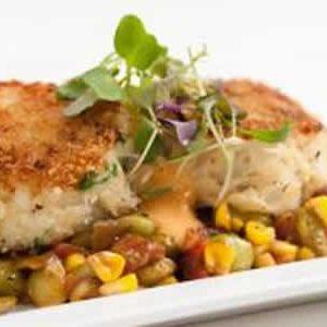 Vegas Chicken with Crabmeat Succotash