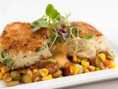 Vegas Chicken with Crabmeat Succotash