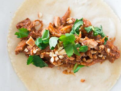 Peanut Pork Mole Wraps Meal Kits