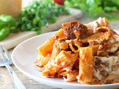 Baked Ziti with Homemade Meatballs Meal Kit Dinner A'Fare