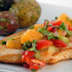 Chicken Paillards with Mandarin Orange Salsa