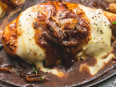 French Onion Chicken Dinner A'Fare