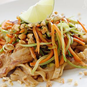 Spicy Peanut Chicken Noodle Salad Dinner A'Fare