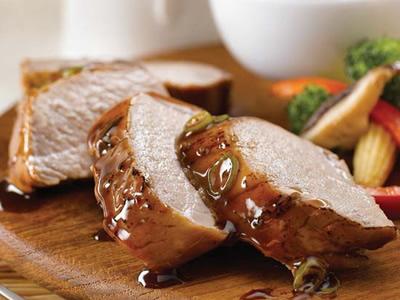 Hoisin Pork Tenderloin with Garlic Sauce