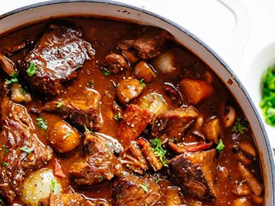 Beef-Bourgignon Dinner A'Fare